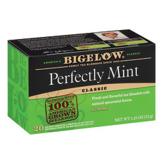 BIGELOW PERFECTLY MINT BLACK TEA 20 CT BOX