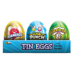 AIRHEADS, SOUR PUNCH AND WARHEADS ASSORTED TIN EASTER EGGS 0.38 OZ