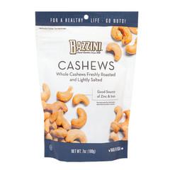 BAZZINI SALTED CASHEWS 7 OZ PEG BAG