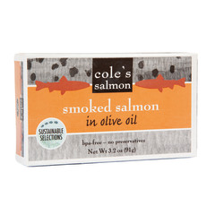 COLE'S - SMOKED SALMON IN OLIVE OIL - 3.2OZ