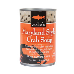 COLE'S - SOUP - MARYLAND STYLE CRAB - 15OZ