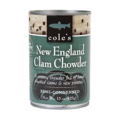 COLE'S - SOUP - NEW ENGLAND CLAM CHOWDER - 15OZ