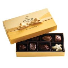 GODIVA BALLOTIN GOLD 8 PIECE ASSORTMENT 3.3 OZ BOX