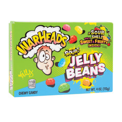 WARHEADS SOUR JELLY BEANS 4 OZ THEATER BOX