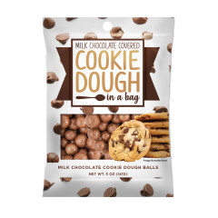 AMUSEMINTS CHOCOLATE COVERED COOKIE DOUGH IN A BAG 5 OZ PEG BAG