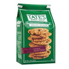 TATE'S OATMEAL RAISIN COOKIES 7 OZ BAG