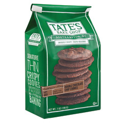 TATE'S DOUBLE CHOCOLATE CHIP COOKIES 7 OZ BAG