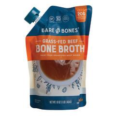 BARE BONES GRASS FED BEEF BONE BROTH 16 OZ POUCH