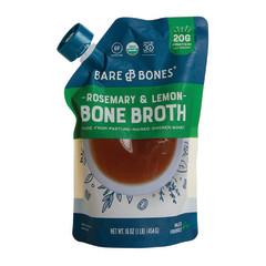 BARE BONES ORGANIC ROSEMARY & LEMON CHICKEN BONE BROTH 16 OZ POUCH