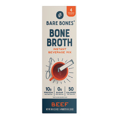 BARE BONES INSTANT BONE BROTH BEEF 4 CT 2.12 OZ STICK