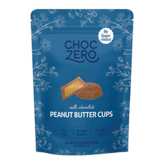 CHOCZERO NO SUGAR ADDED MILK CHOCOLATE PEANUT BUTTER CUPS 3 OZ POUCH
