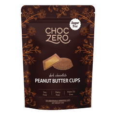 CHOCZERO SUGAR FREE DARK CHOCOLATE PEANUT BUTTER CUPS 3 OZ POUCH