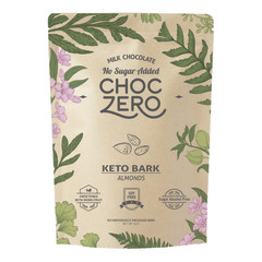 CHOCZERO MILK CHOCOLATE ALMOND KETO BARK  6 OZ POUCH