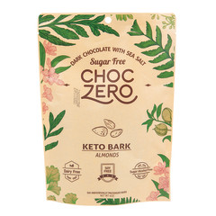 CHOCZERO SUGAR FREE KETO BARK DARK CHOCOLATE ALMOND 6 OZ POUCH