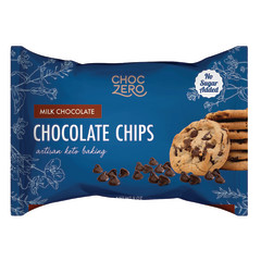 CHOCZERO MILK CHOCOLATE BAKING CHIPS 9 OZ BAG