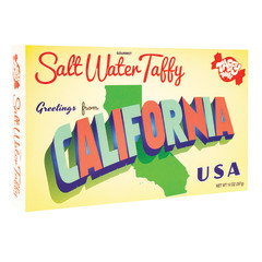 TAFFY TOWN GREETINGS FROM CALIFORNIA 14 OZ BOX