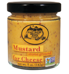 EAST SHORE STONE GROUND MUSTARD FOR CHEESE 5 OZ JAR
