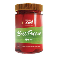 KITCHEN & LOVE ROASTED RED BELL PEPPERS 11 OZ JAR