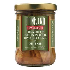 TONNINO TUNA WITH SUN DRIED TOMATO & OLIVES 6.3 OZ JAR
