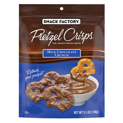 PRETZEL CRISPS MILK CHOCOLATE CRUNCH 5.5 OZ PEG BAG