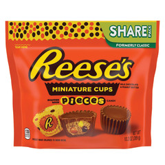 REESE'S MINI PEANUT BUTTER CUPS WITH REESE'S PIECES 0.2 OZ POUCH