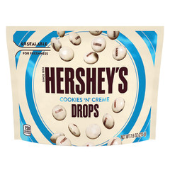 HERSHEY'S COOKIES N CREME DROPS 7.6 OZ POUCH