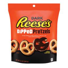 REESE'S DARK CHOCOLATE PRETZELS 8.5 OZ POUCH