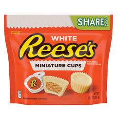 REESE'S WHITE CHOCOLATE PEANUT BUTTER CUP 10.5 OZ POUCH