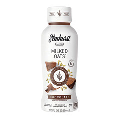 ELMHURST CHOCOLATE MILKED OATS 12 OZ BOTTLE