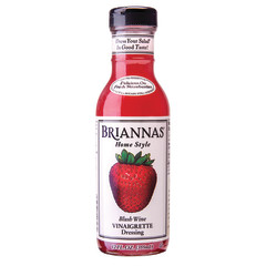 BRIANNAS BLUSH WINE VINAIGRETTE DRESSING 12 OZ BOTTLE