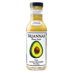 BRIANNAS HONEY MUSTARD DRESSING 12 OZ BOTTLE