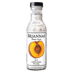 BRIANNAS POPPY SEED DRESSING 12 OZ BOTTLE