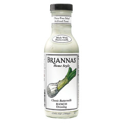 BRIANNAS CLASSIC BUTTERMILK RANCH DRESSING 12 OZ BOTTLE