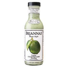 BRIANNAS LIME CILANTRO DRESSING 12 OZ BOTTLE