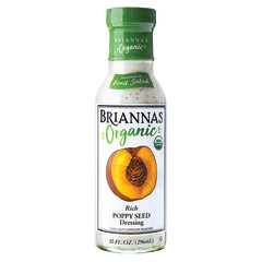 BRIANNA'S ORGANIC POPPY SEED DRESSING 10 OZ BOTTLE
