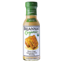 BRIANNA'S ORGANIC HONEY GINGER VINAIGRETTE 10 OZ BOTTLE