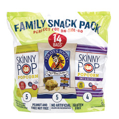SKINNY POP & PIRATE'S BOOTY 3 FLAVORS SNACK PACK 8.2 OZ BAG