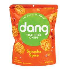 DANG SRIRACHA STICKY RICE CHIPS 3.5 OZ PEG BAG