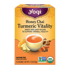 YOGI TEA HONEY CHAI TURMERIC VITALITY 16 CT BOX