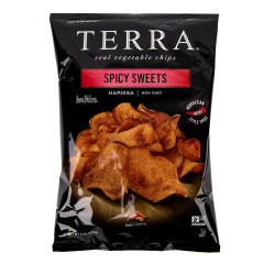 TERRA CHIPS SPICY SWEETS CHIPS  6 OZ BAG