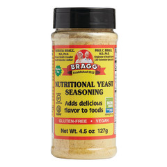 BRAGG LIVE FOODS NUTRITIONAL YEAST SEASONING 4.5 OZ SHAKER