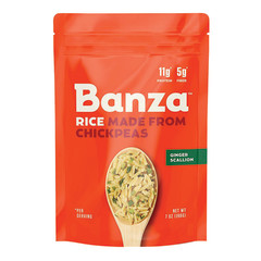 BANZA GINGER SCALLION CHICKPEA RICE 7 OZ BOX