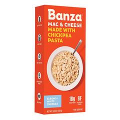 BANZA MAC & WHITE CHEDDAR CHEESE CHICKPEA PASTA 5.5 OZ BOX