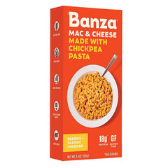 BANZA MAC & CHEDDAR CHEESE CHICKPEA PASTA 5.5 OZ BOX