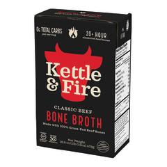 KETTLE & FIRE GRASS FED BEEF BONE BROTH 16.9 OZ BOX