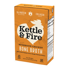 KETTLE & FIRE MUSHROOM CHICKEN BONE BROTH 16.9 OZ BOX