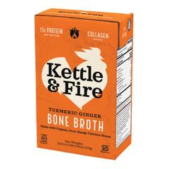KETTLE & FIRE TURMERIC GINGER CHICKEN BONE BROTH 16.9 OZ BOX