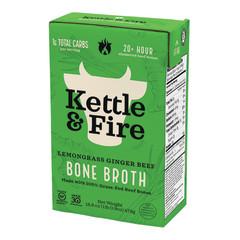KETTLE & FIRE LEMONGRASS GINGER BEEF BONE BROTH 16.9 OZ BOX