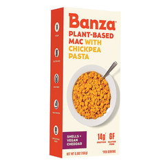 BANZA MAC & VEGAN CHEDDAR CHICKPEA PASTA SHELLS 5.5 OZ BOX