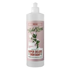 REBEL GREEN PINK LILAC DISH SOAP 16 OZ BOTTLE